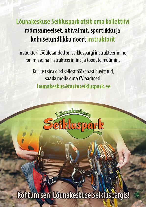 Töökuulutus_Lõunakeskuse Seikluspark